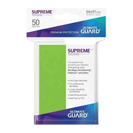 Ultimate Guard UGD010792 Supreme UX Sleeves, Hellgrün, Standardgröße [Karten, neu, DE]